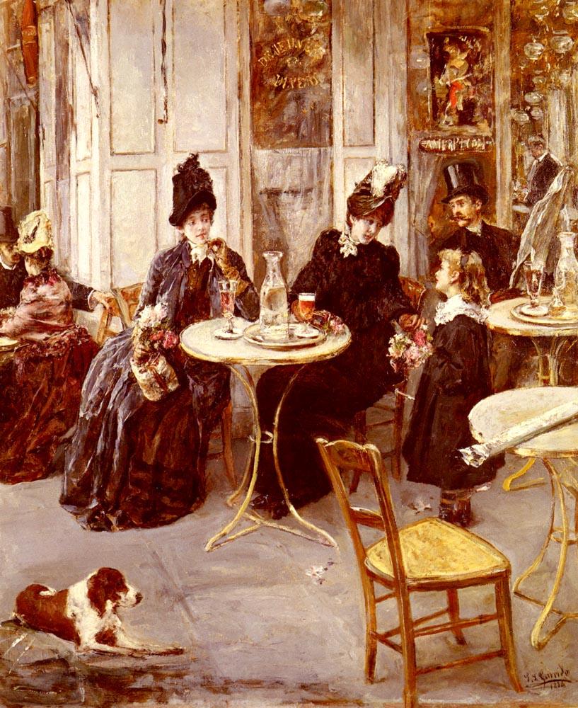 Au Cafe | Eduardo Leon Garrido | Oil Painting