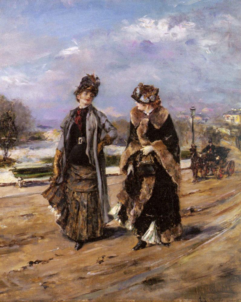 A Leisurely Promenade | Eduardo Leon Garrido | Oil Painting