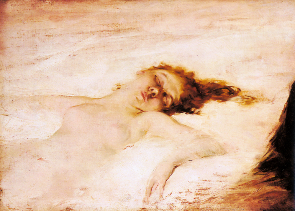 A Reclining Nude | Eduardo Leon Garrido | Oil Painting