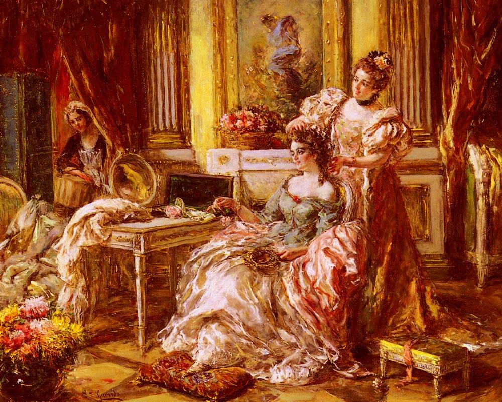 Preparing For The Ball | Eduardo Leon Garrido | Oil Painting