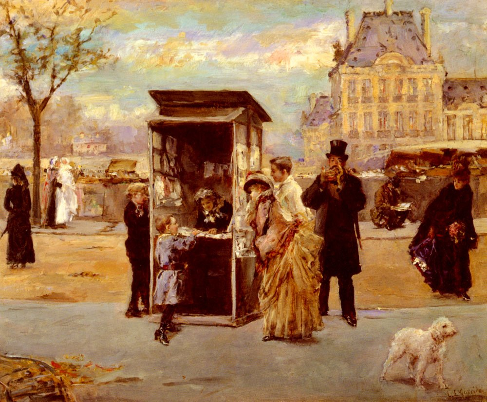 The Kiosk By The Seine | Eduardo Leon Garrido | Oil Painting