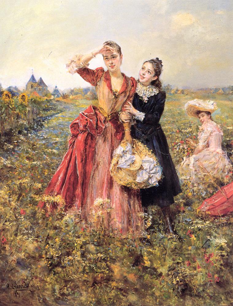 Picking Wildflowers | Eduardo Leon Garrido | Oil Painting