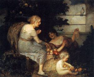 An Allegory of Plenty | Eduard Veith | Oil Painting