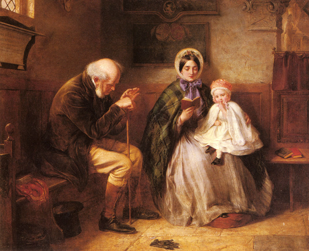 In Church | Edward Hughes | Oil Painting