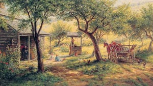 Stopping to Water His Horses | Edward Lamson Henry | Oil Painting