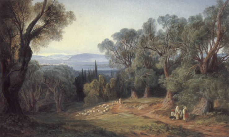 Corfu and the Albanian Mountains | Edward Lear | Oil Painting