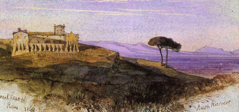 A View In The Roman Compagna | Edward Lear | Oil Painting