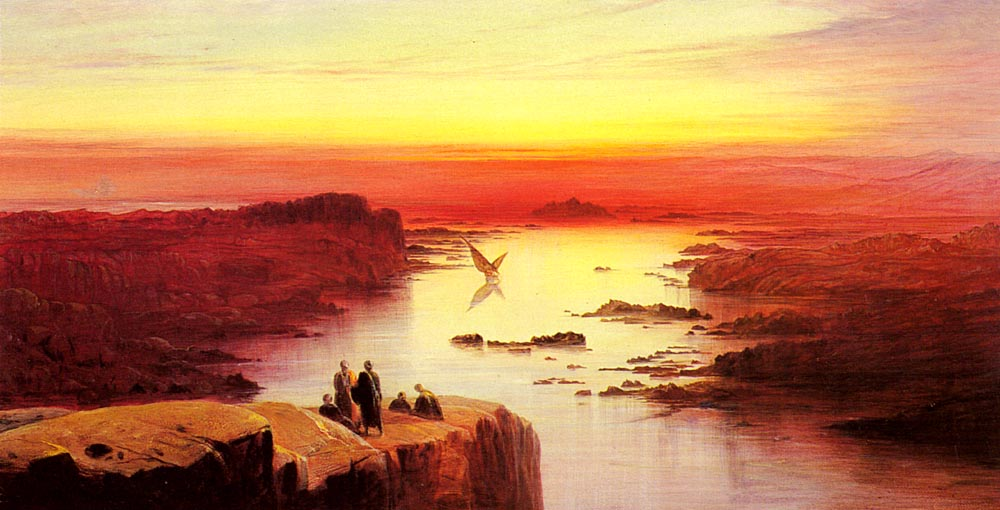 A View Of The Nile Above Aswan | Edward Lear | Oil Painting