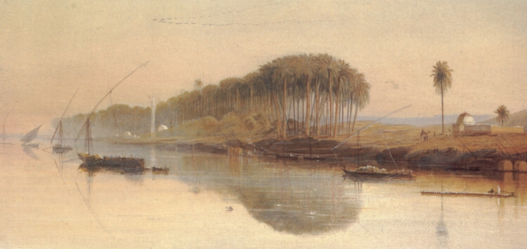 Sheikh Abadeh on the Nile | Edward Lear | Oil Painting