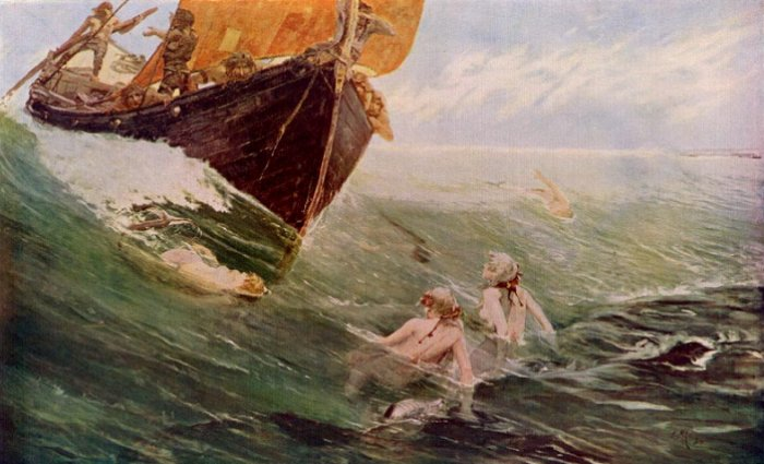 The Mermaids Rock 1894 | Edward Matthew Hale | Oil Painting
