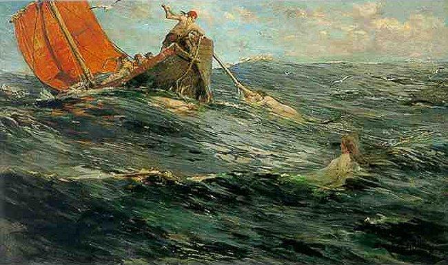 The Sirens | Edward Matthew Hale | Oil Painting