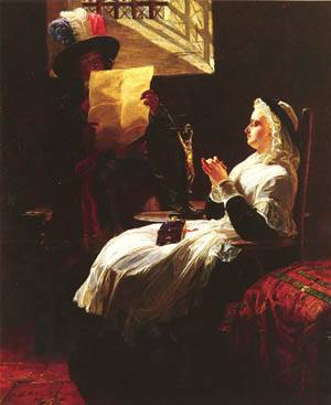 Marie Antoinette Listening to the Act of Accusation the Day Before Her Trial   Edward Matthew Hale   Oil Painting