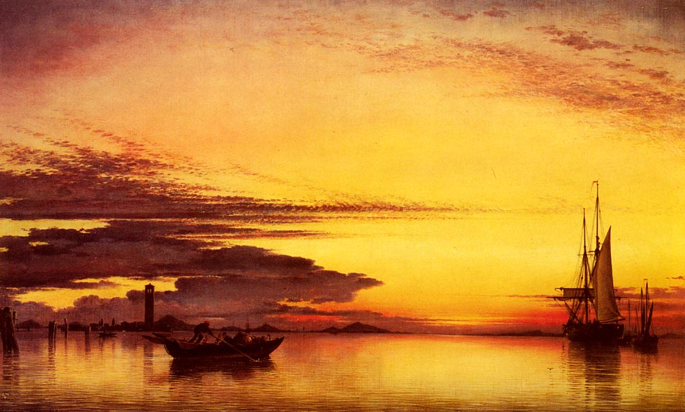 Sunset On The Lagune Of Venice | Edward William Cooke | Oil Painting