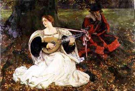 Fair Is My Love 1900 | Edwin Austin Abbey | Oil Painting
