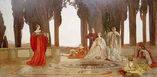 Fiammettas Song | Edwin Austin Abbey | Oil Painting
