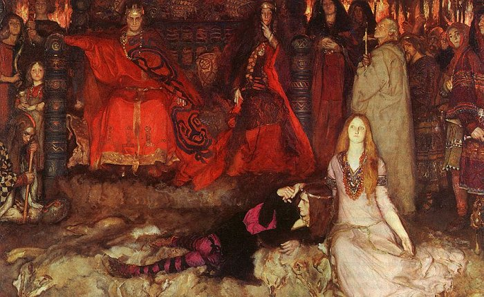 Play Scene In Hamlet 1897 | Edwin Austin Abbey | Oil Painting