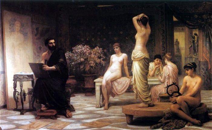 The Chosen Five (Zeuxis At Crotona) 1885 | Edwin Long | Oil Painting