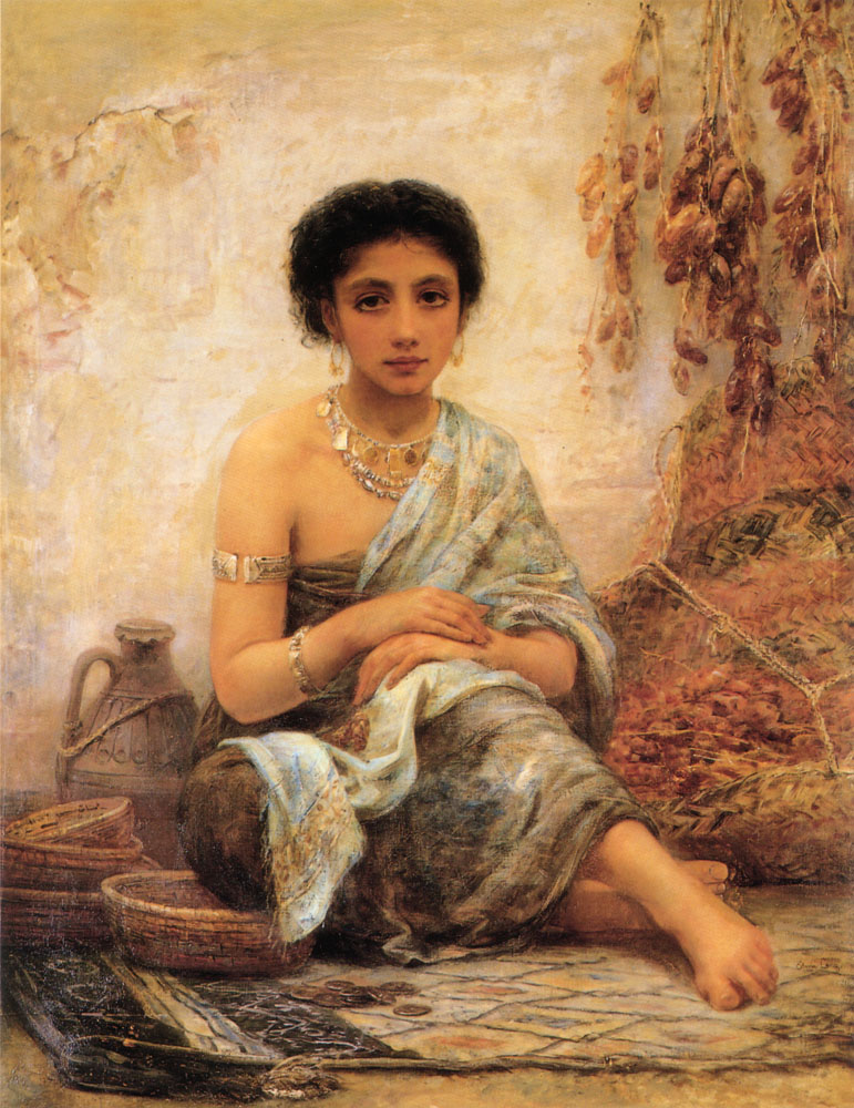 The Date Seller | Edwin Longsden Long | Oil Painting