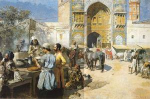 An Open-Air Restaurant Lahore | Edwin Lord Weeks | Oil Painting