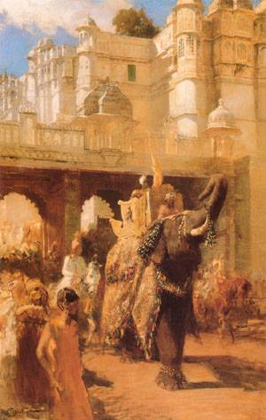 A Royal Procession | Edwin Lord Weeks | Oil Painting