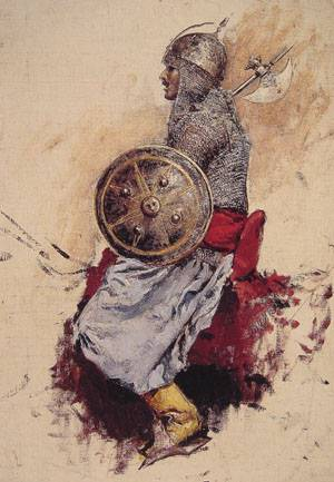 Man in Armour | Edwin Lord Weeks | Oil Painting