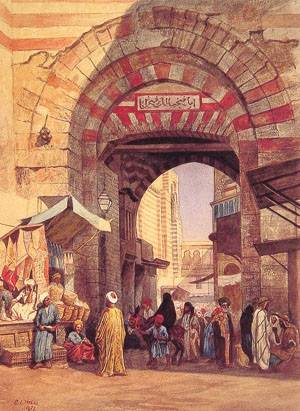 The Moorish Bazaar | Edwin Lord Weeks | Oil Painting