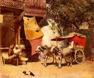 An Indian Gharry | Edwin Lord Weeks | Oil Painting