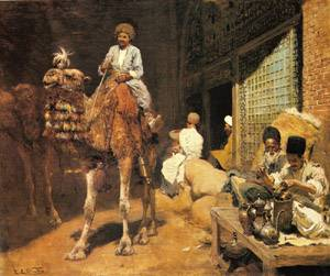 A Marketplace In Ispahan | Edwin Lord Weeks | Oil Painting
