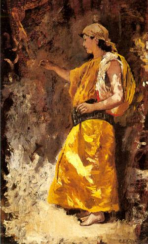 Standing Arab Woman | Edwin Lord Weeks | Oil Painting