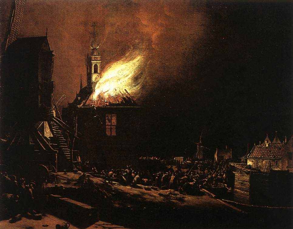 The Explosion Of The Delft Magazine 1654 | Egbert Van Der Poel | Oil Painting