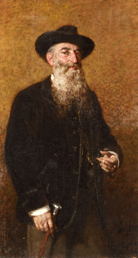 A Portrait Of A Distinguished Italian Gentleman | Egisto Lancerotto | Oil Painting