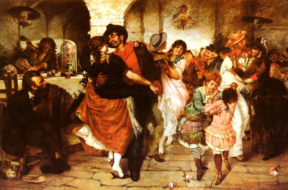 Ballo Mazurka | Egisto Lancerotto | Oil Painting