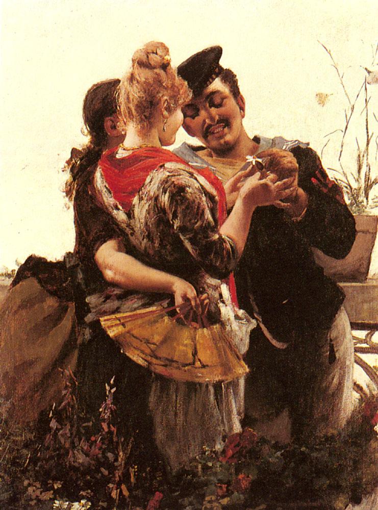 She Loves Me | Egisto Lancerotto | Oil Painting