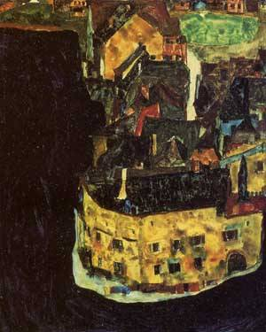 City on the Blue River 1911 | Egon Schiele | Oil Painting