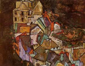 Edge of Town (aka Krumau Town Crescent III) 1918 | Egon Schiele | Oil Painting