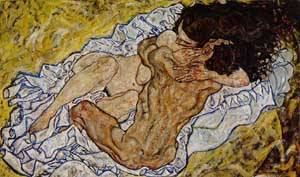 Embrace (aka Lovers II) 1917 | Egon Schiele | Oil Painting