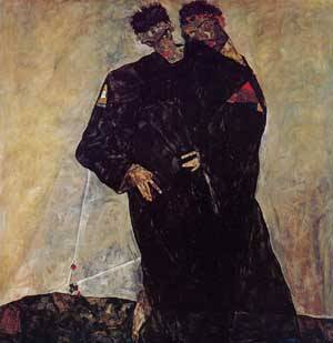 Hermits 1912 | Egon Schiele | Oil Painting