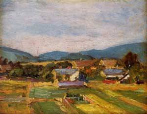 Landscape in Lower Austria 1907 | Egon Schiele | Oil Painting