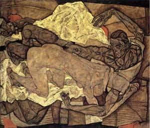 Lovers Man and Woman I 1914 | Egon Schiele | Oil Painting