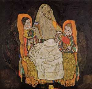 Mother with Two Children 1917 | Egon Schiele | Oil Painting