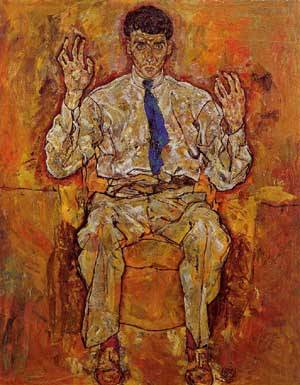 Portrait of Albert Paris von Gutersloh 1918 | Egon Schiele | Oil Painting