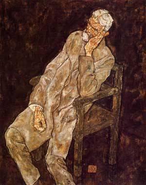 Portrait of an Old Man (aka Johann Harms) 1916 | Egon Schiele | Oil Painting
