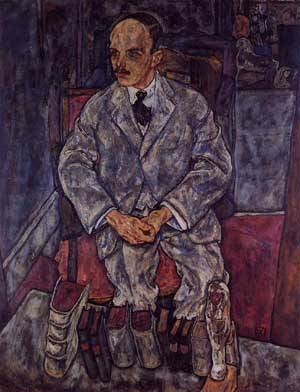 The Art Dealer Guido Arnot 1918 | Egon Schiele | Oil Painting