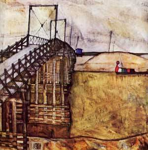 The Bridge 1913 | Egon Schiele | Oil Painting