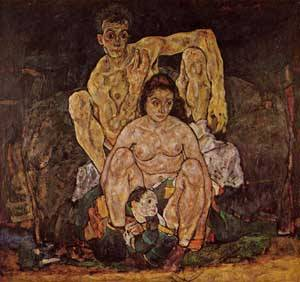 The Family 1918 | Egon Schiele | Oil Painting