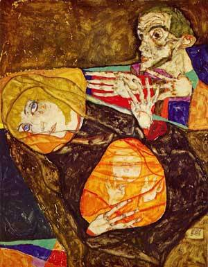 The Holy Family 1913 | Egon Schiele | Oil Painting