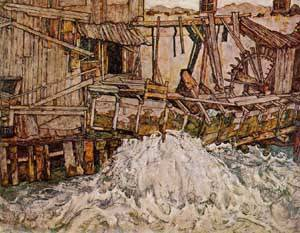 The Mill 1916 | Egon Schiele | Oil Painting