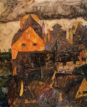 The Old City I (aka Dead City V) 1912 | Egon Schiele | Oil Painting