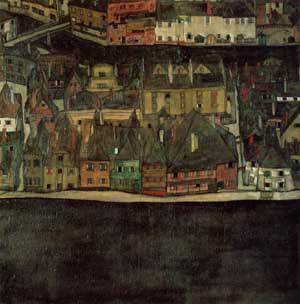 The Small City II 1912-1913 | Egon Schiele | Oil Painting