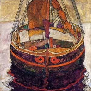 Trieste Fishing Boat 1912 | Egon Schiele | Oil Painting